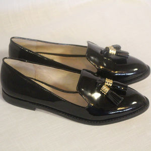 Women's 8M Louise et Cie Black Tassel Loafers